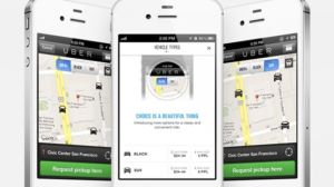 Uber, taxi a Londres