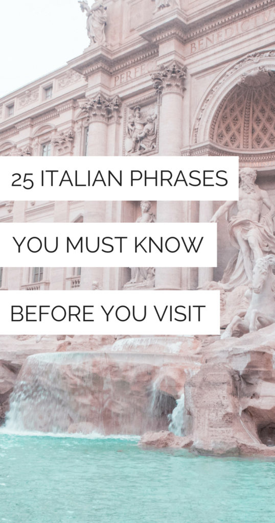 photograph about Italian Phrases for Travel Printable called 25 Easy Italian Words and phrases By yourself Should really Comprehend Just before On your own Check out - La