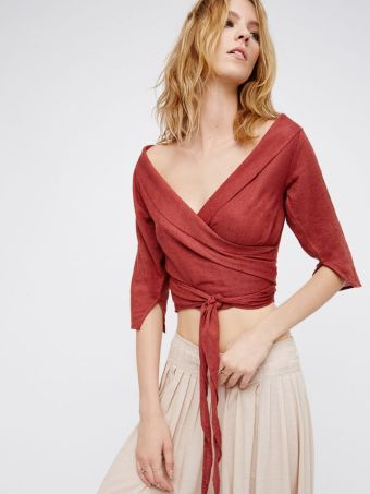 Come back wrap top - Free People
