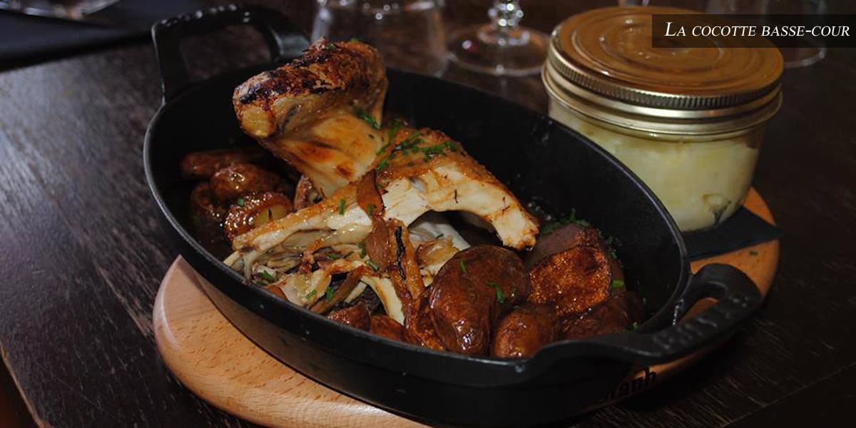 Cocotte basse cour - restaurant l'affiche - isle adam