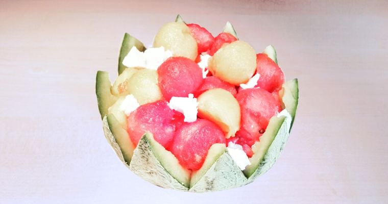 Salade de melon – pastèque – feta