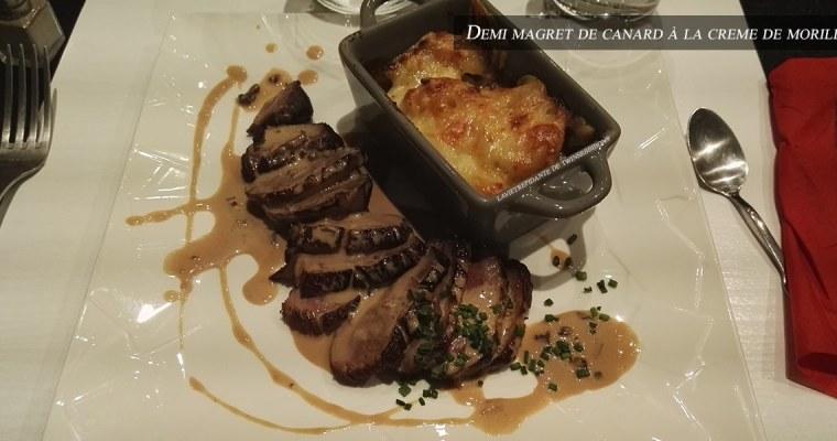 J'ai testé pour vous : le Demi-magret de canard sauce morille – Restaurant Le 8