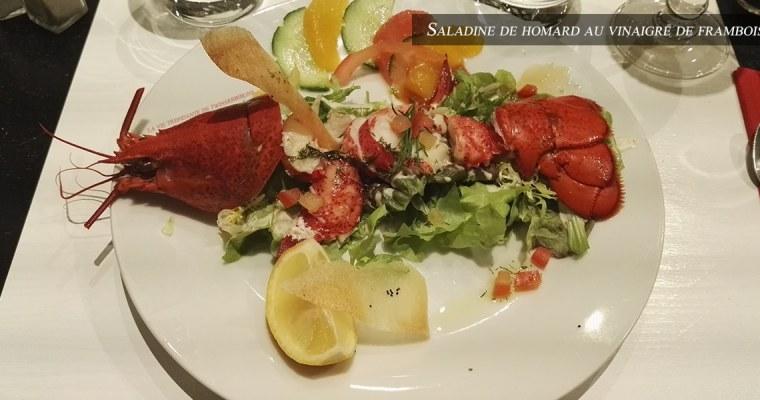 J'ai testé pour vous : la Saladine de homard au vinaigre de framboise  – Restaurant Le 8