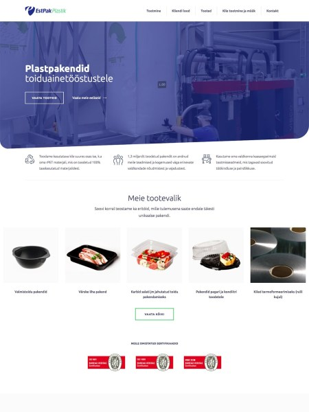 estpakplastik veebileht
