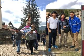 Cerca de 200 personas acompañaron la procesión. Foto: Alcaldía de Sutatausa.