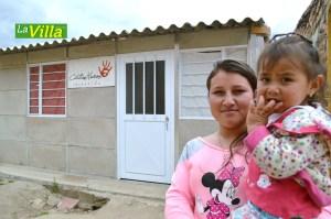 Julieth Carolina Pasito, de  Viento Libre, fue una de las beneficiadas. La Villa.