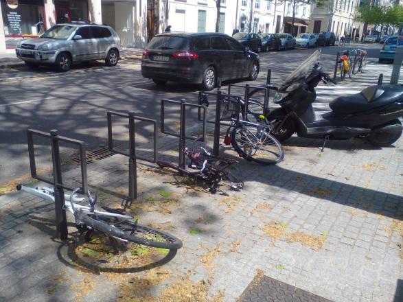 vandalisme arceaux vélo
