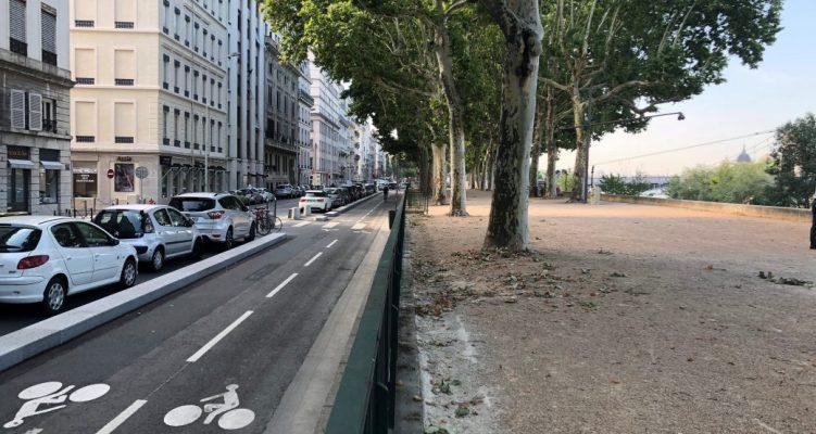 Le quai Sarrail, 1er boulevard cyclable de Lyon !