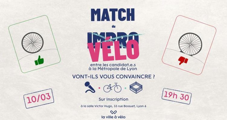 Inscrivez-vous au Match du Vélo le 10 mars 2020 entre des candidat·e·s aux élections métropolitaines