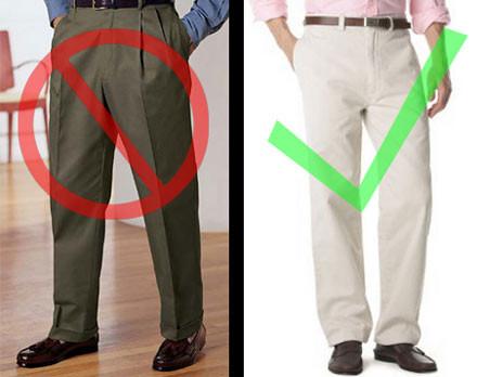 Мужские брюки со складками фото