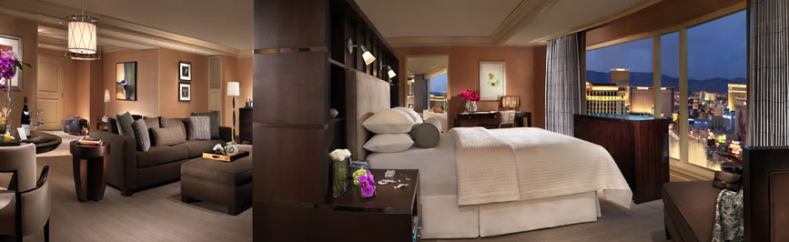 las vegas bellagio 1 & 2 bedroom suite deals