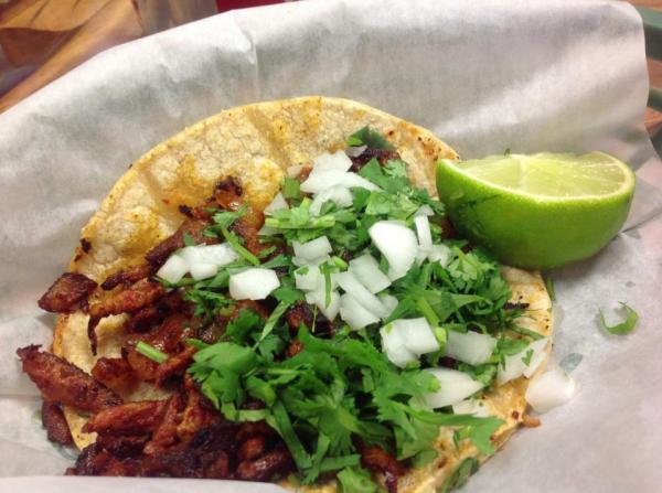 Taco al pastor at Taquería San Juanito 4714 N Kedzie Ave,  Chicago