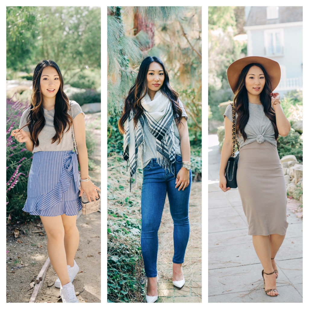1 MADEWELL T-SHIRT STYLED 3 WAYS