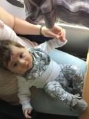Im selbstgenähten Dress aus der Zugreise :)