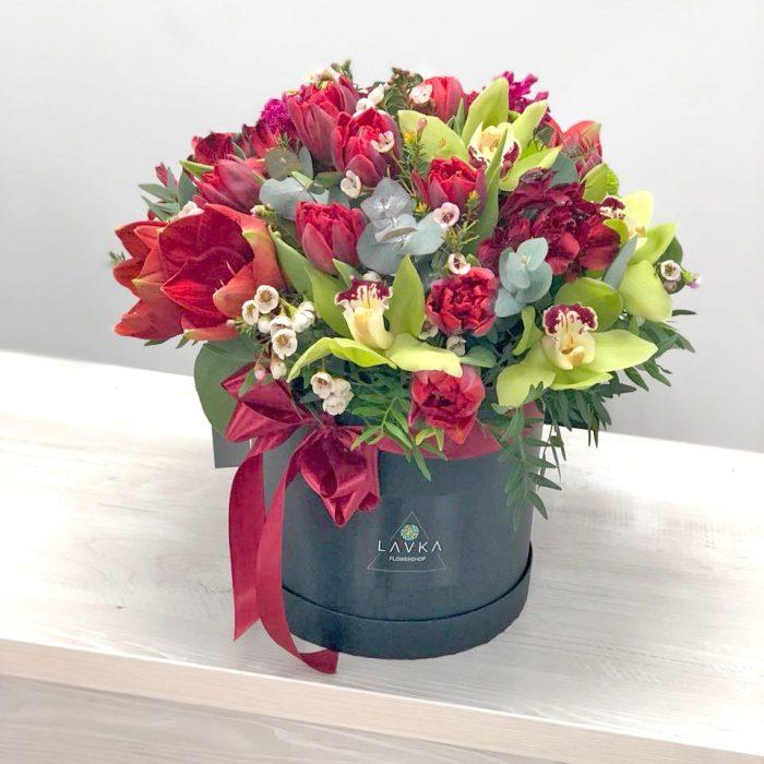 Цветы в шляпной коробке Уфа