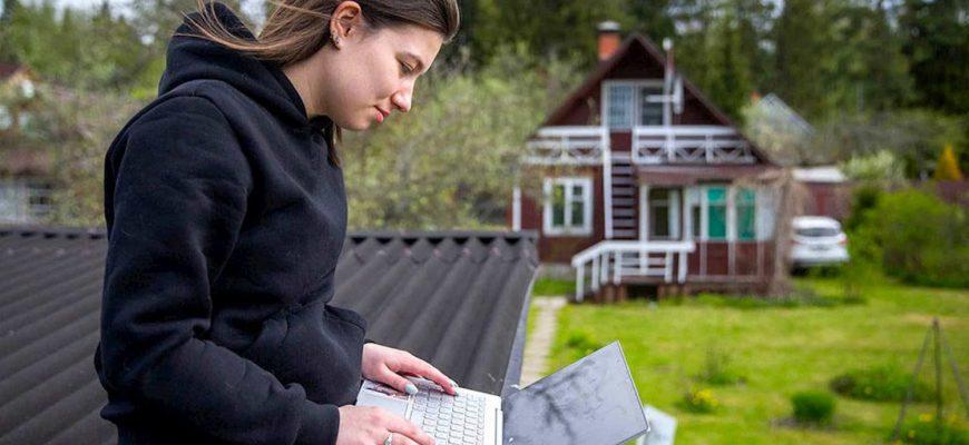 Как подключают интернет в области и на даче