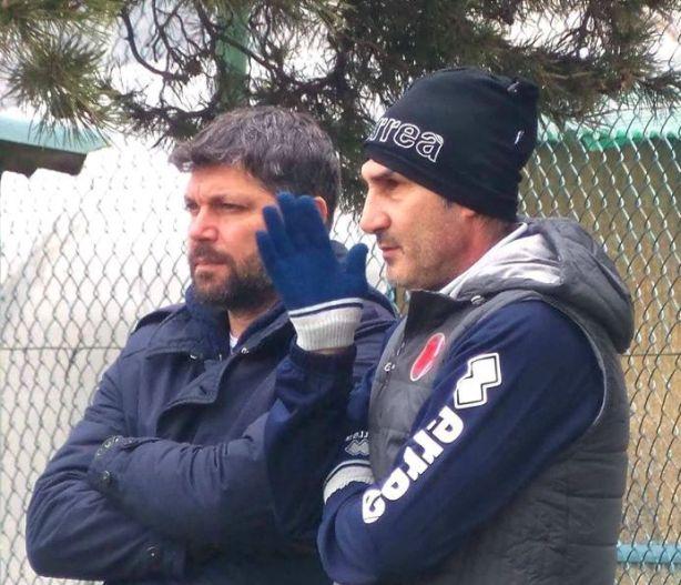 Con il ds Fabio Artico, sulla panchina dell'Alessandria