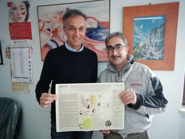 Foto Assessore Domenico Felicione e direttore Adriano De Ascentiis