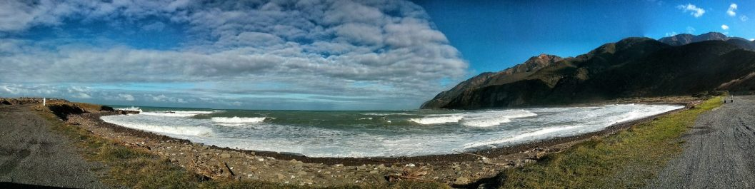 Costa est dell'isola sud della Nuova Zelanda