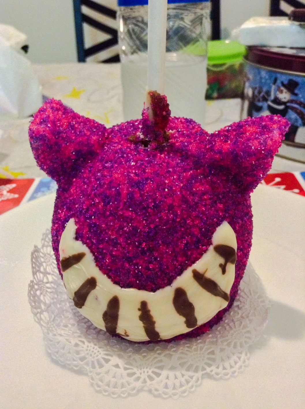 Cheshire Cat Caramel Apple