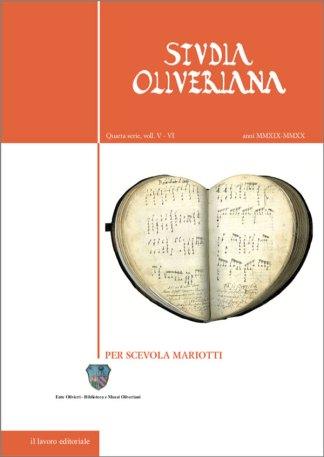 Studia Oliveriana V-VI copertina