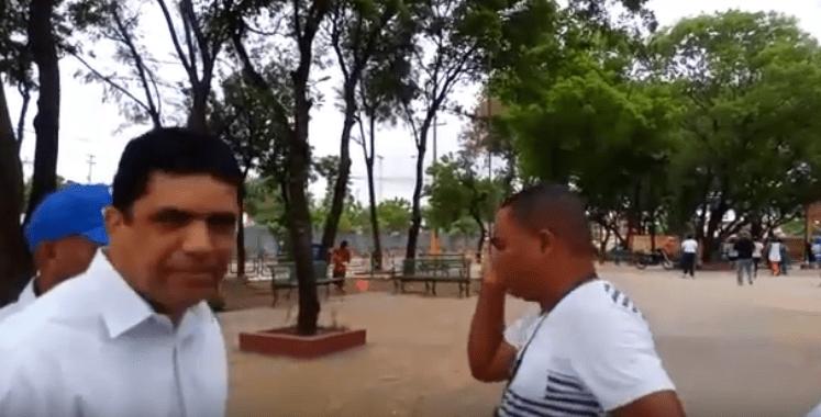 Empleado del ASDE acciona contra Dio Astacio en el parque de Los Billeteros