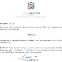 Decretos 477, 478, 479, 480 y 481-20 emitidos por el Presidente @LuisAbinader @PRM_Oficial