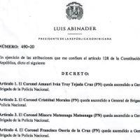 Decreto 490-20 emitido por el Presidente @LuisAbinader @PRM_Oficial