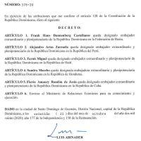 Decreto 578-20 emitido por el Presidente @LuisAbinader @PRM_Oficial