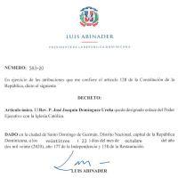 Decreto 583-20 emitido por el Presidente @LuisAbinader @PRM_Oficial