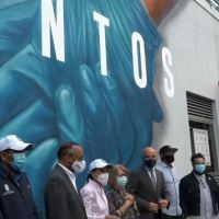 @AlcaldiaDN presenta Mural Tiempo de Solidariad