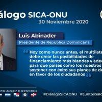 Discurso Pdte. @LuisAbinader RD en Diálogo SICA-ONU por el Desarrollo de Centroamérica