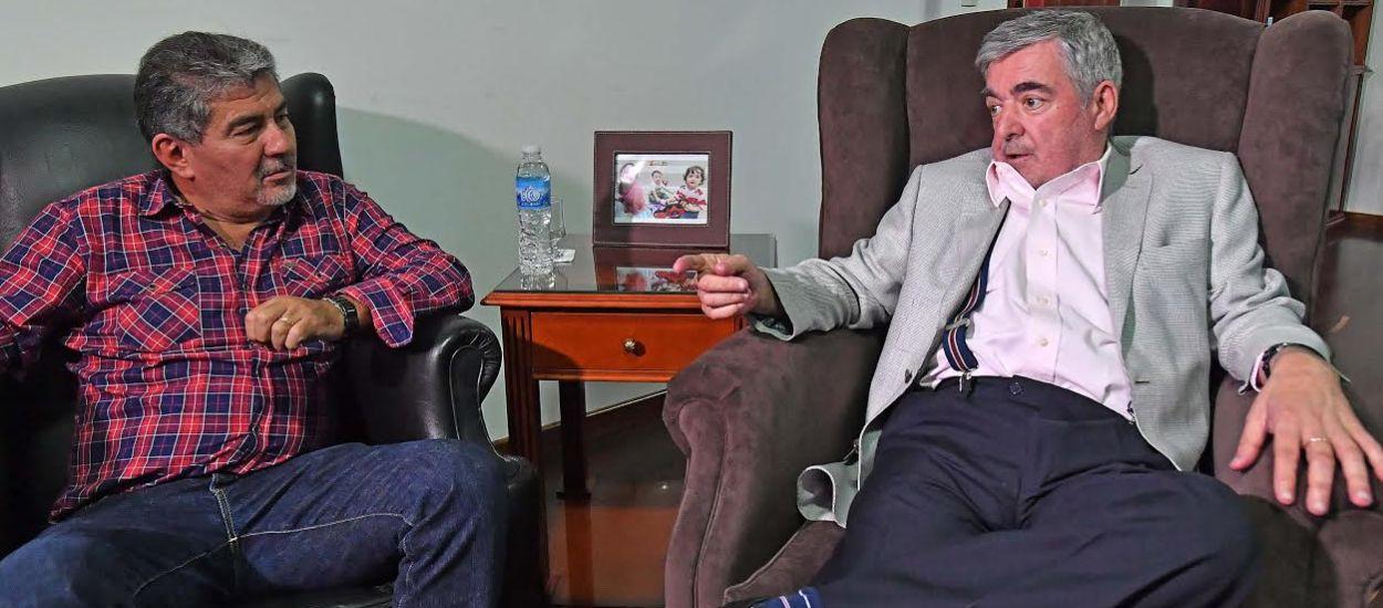 Das Neves recibió a Taboada y la situación laboral en el sector petrolero fue eje del encuentro
