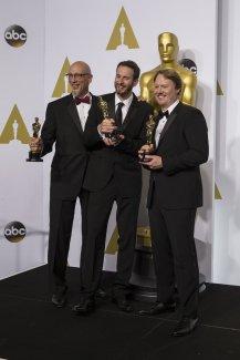 Roy Conli, Chris Williams y Don Hall