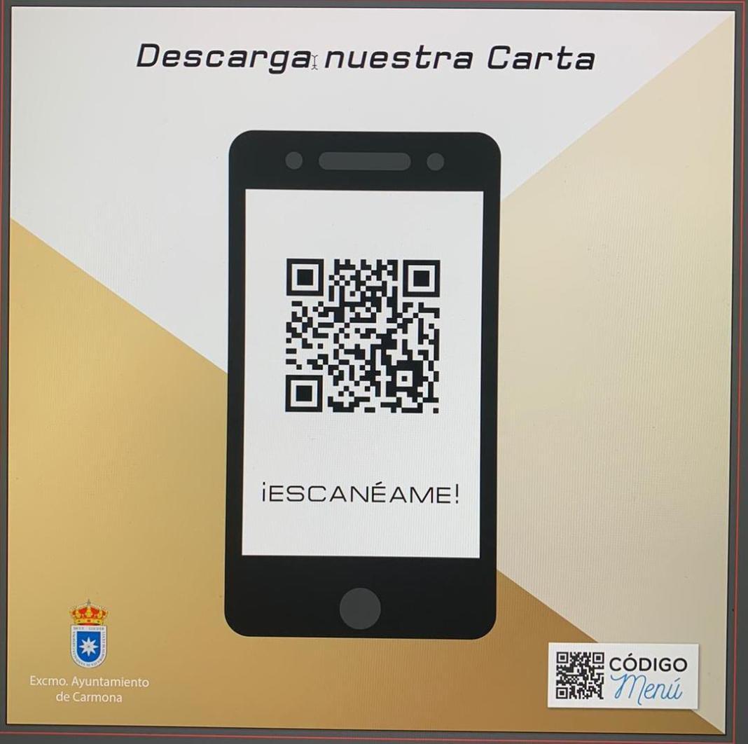 Los bares y restaurantes de Carmona podrán tener una carta QR gratuita 1