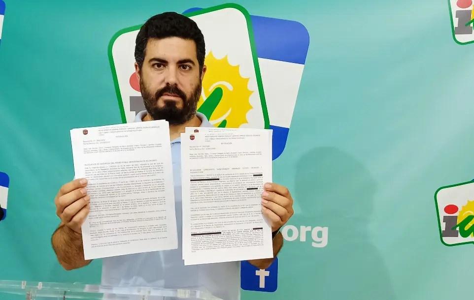 Juan Jiménez renuncia, por motivos personales y profesionales, a su acta de concejal