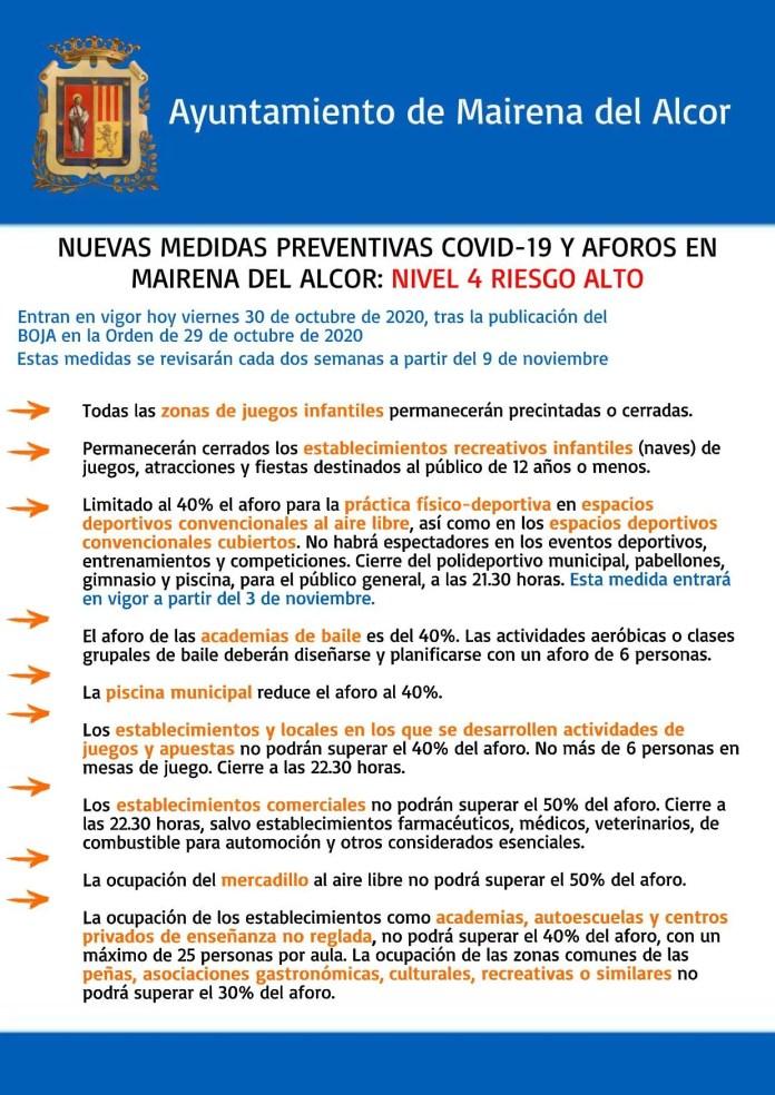 Mairena del Alcor amplía las medidas frente al COVID-19 1