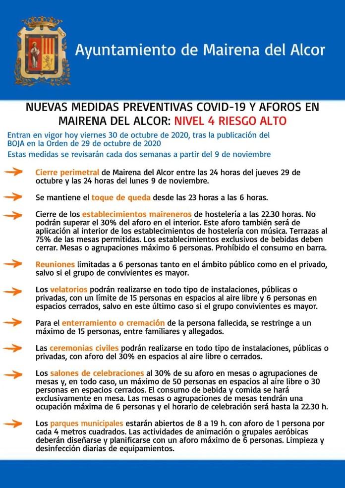 Mairena del Alcor amplía las medidas frente al COVID-19 2