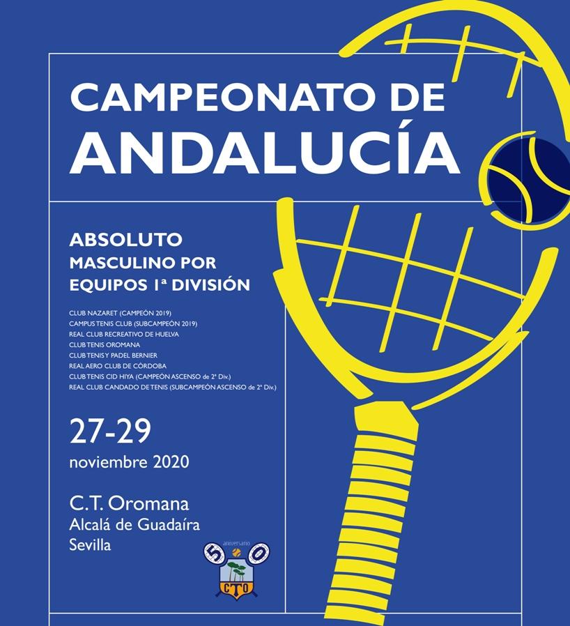 Alcalá acoge el campeonato de Andalucía absoluto por equipos de tenis