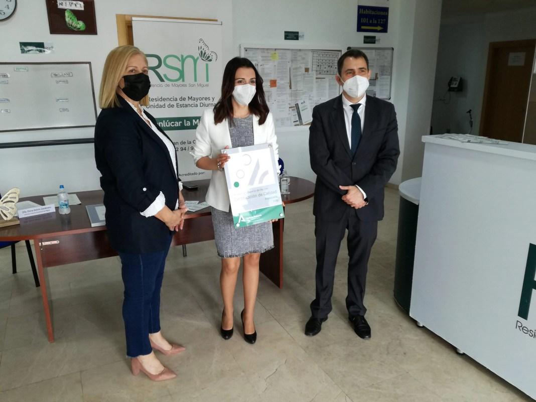 La Residencia de Mayores San Miguel de Sanlúcar la Mayor recibe la certificación de la Agencia de Calidad Sanitaria de Andalucía