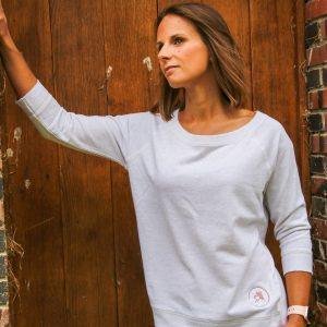 Pull « Candice » – gris clair chiné