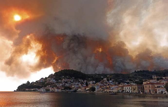 Συγκέντρωση αγαθών για τους πυρόπληκτους στην Εύβοια