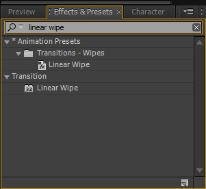 adobe after effect - linear wipe