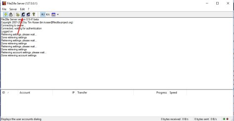 FileZilla Server - Edit Users