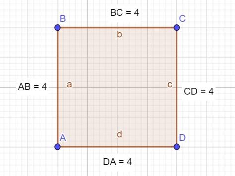 геометрия - стороны квадрата