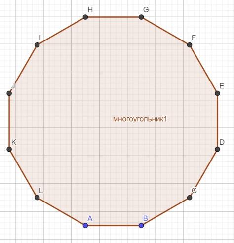 окружность - двенадцатиугольник
