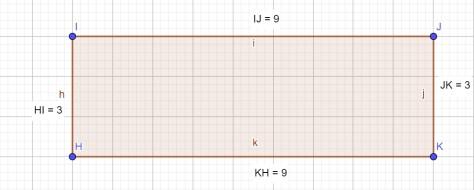 периметр фигуры - прямоугольник