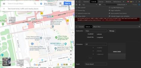 подделка местоположения в Chrome