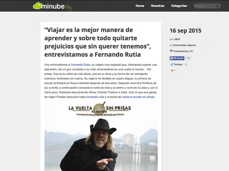 Entrevista Minube