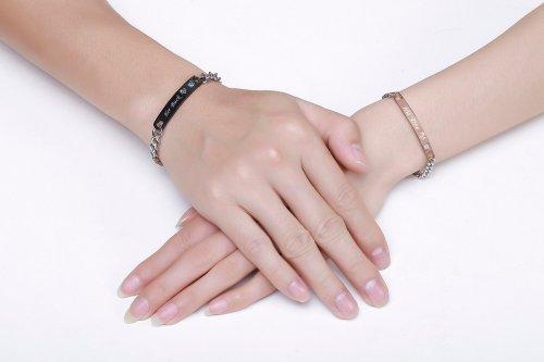 His Doe Her Buck Couple Bracelets Stainless Steel 2